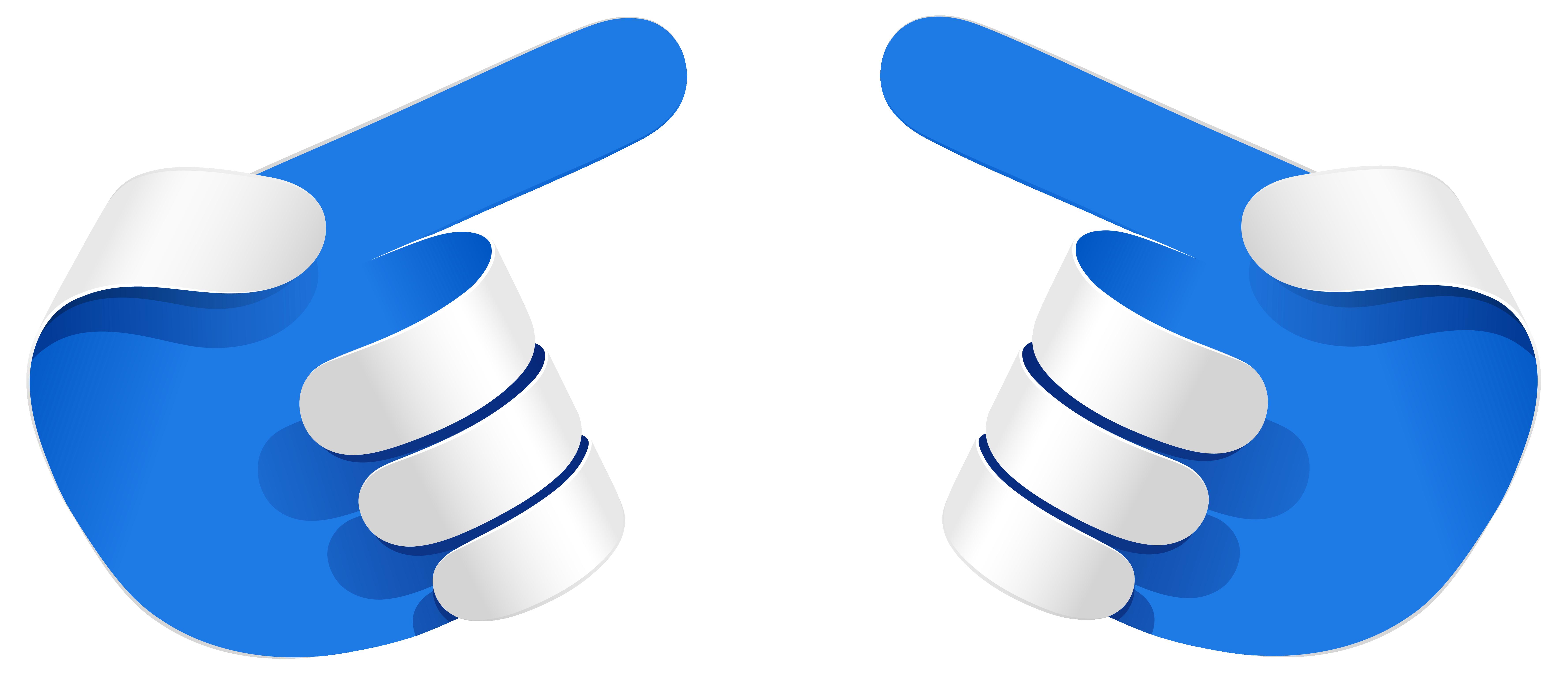Blue hands arrows transparent. Hand clipart border