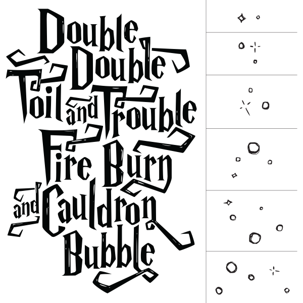 Double toil and trouble. Clipart cross chalkboard