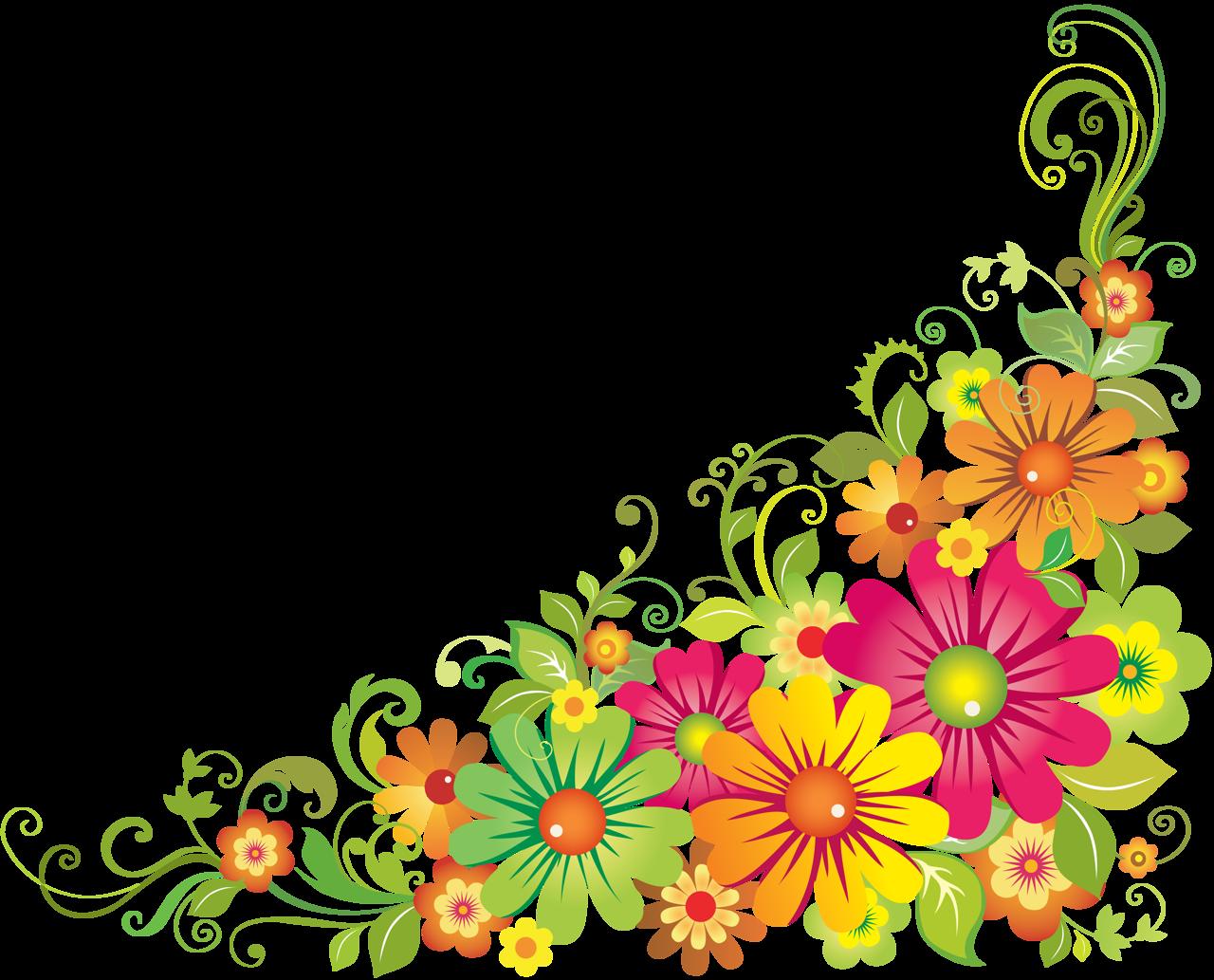 f e orig. Daisies clipart corner border flower