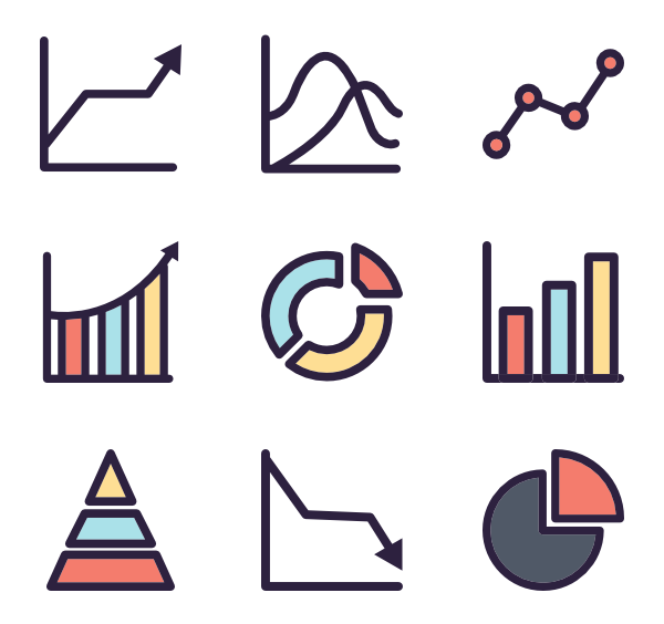 icon packs vector. Graph clipart school data