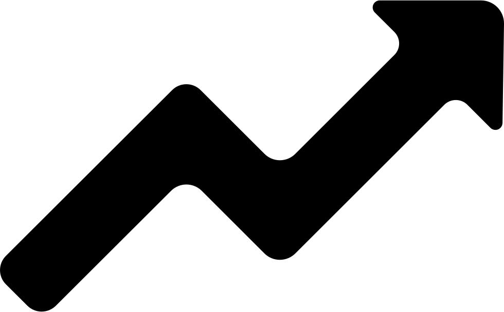 Line ascendant graphic of. Clipart arrows graph