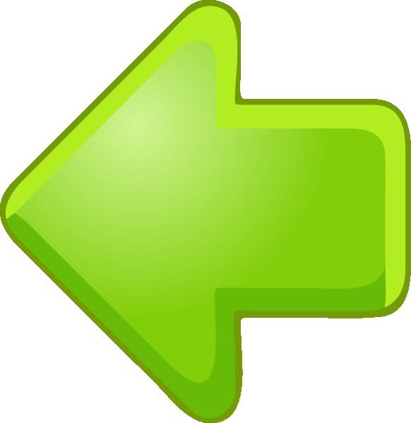 Left arrow green clip. Dot clipart blinking red
