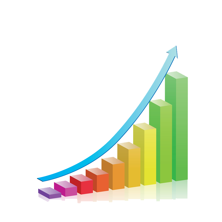 Clipart arrows growth. Business chart png transparent