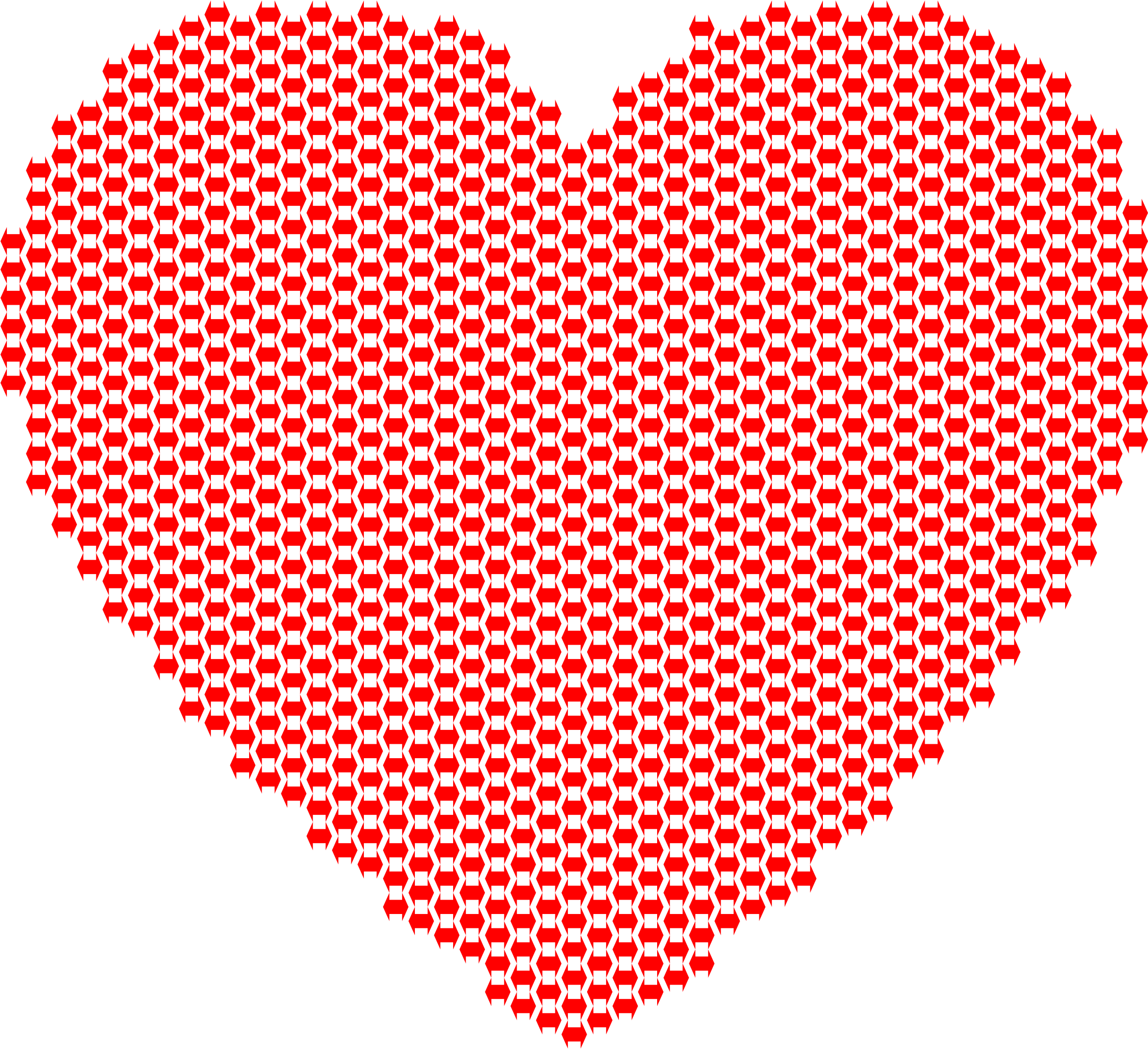 Clipart - Heart Double Arrows