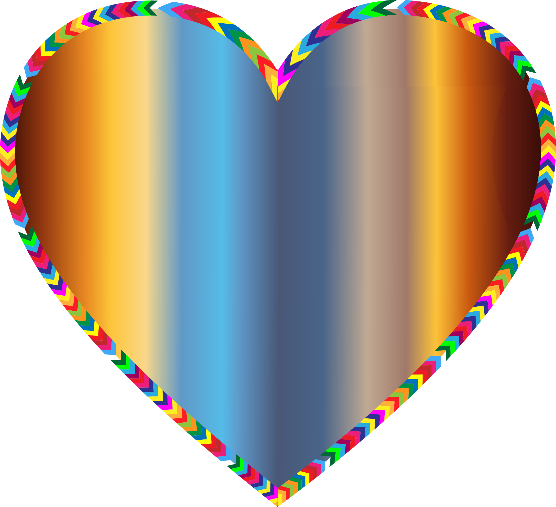 Clipart - Multicolored Arrows Heart Filled 5