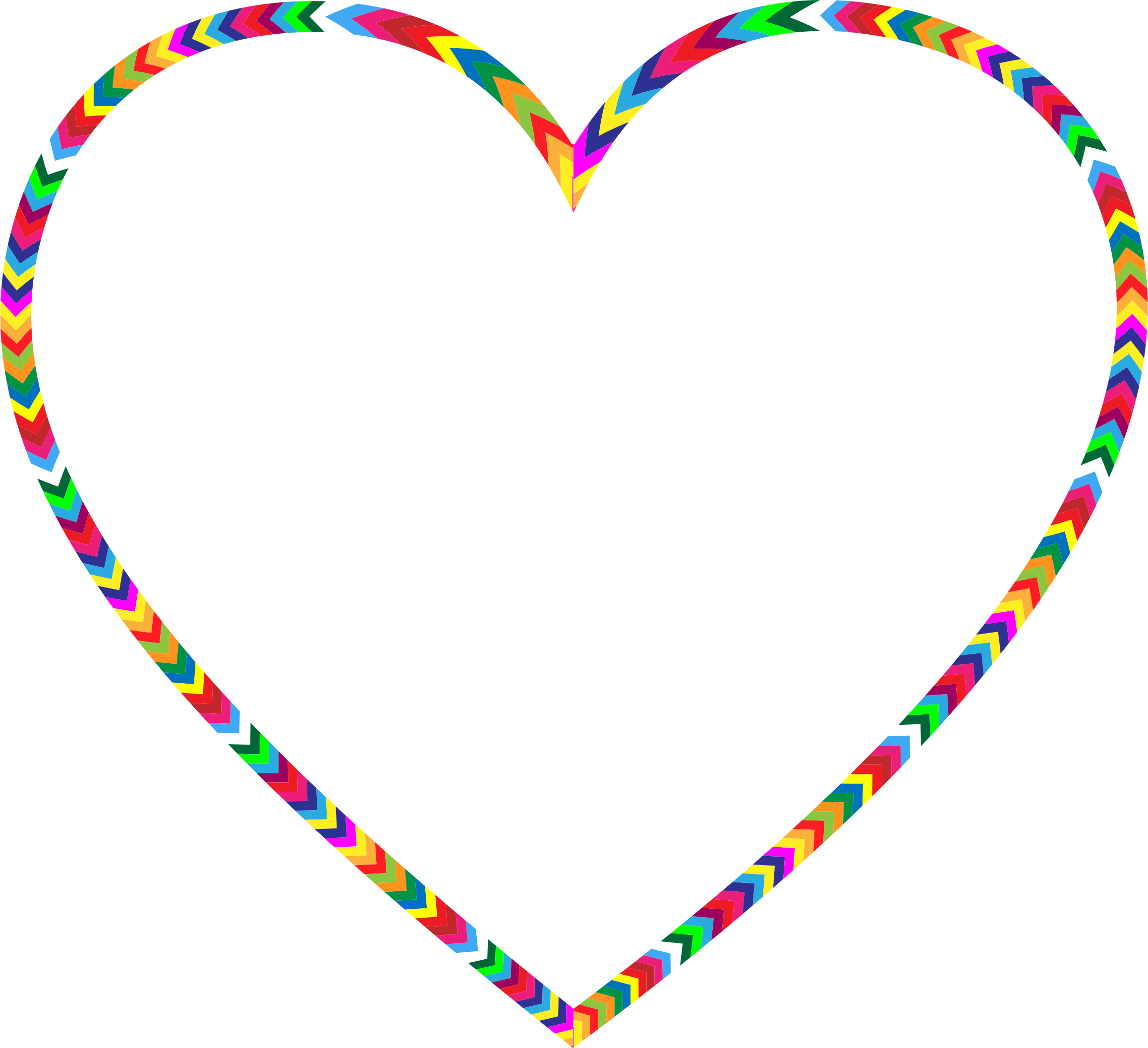 Clipart - Multicolored Arrows Heart