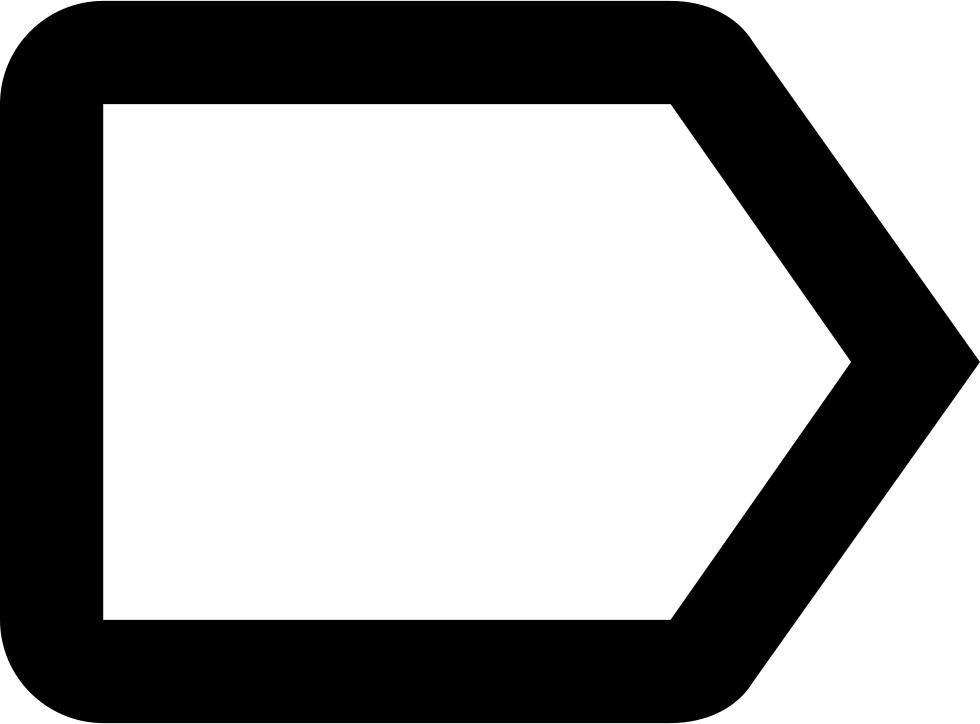 Right arrow svg png. Label clipart label outline