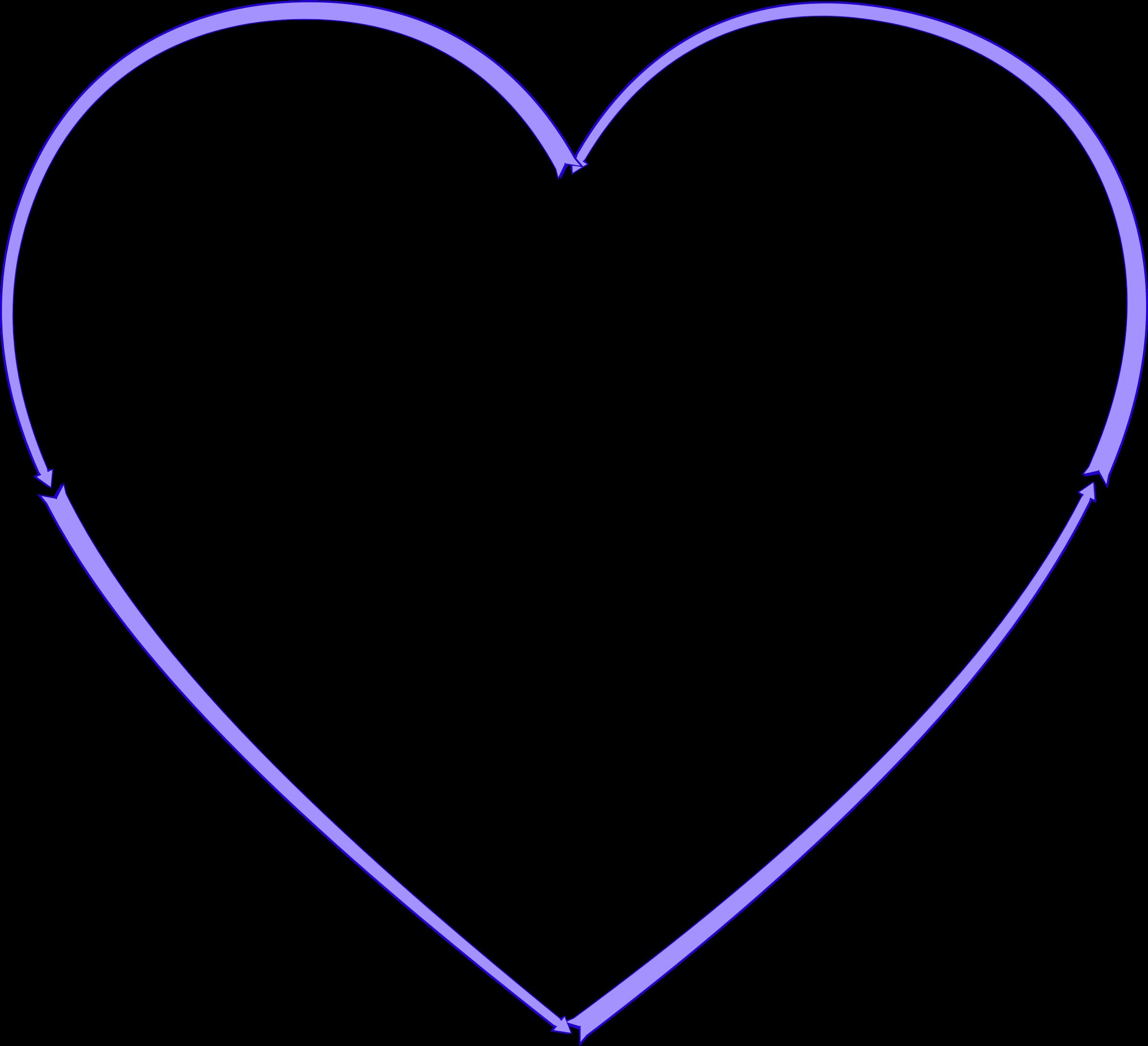 Arrow heart big image. Clipart arrows love