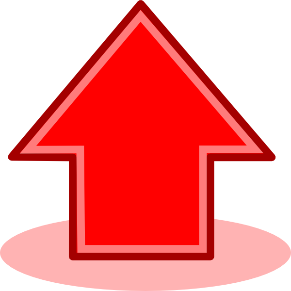 Red arrow up clip. Clipart arrows plain