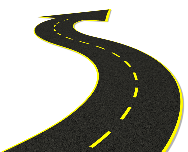 Curved road png finest. Path clipart far distance