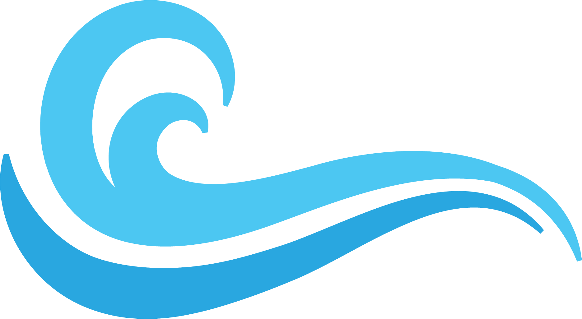 Waves clipart olas. Logo blue wind wave