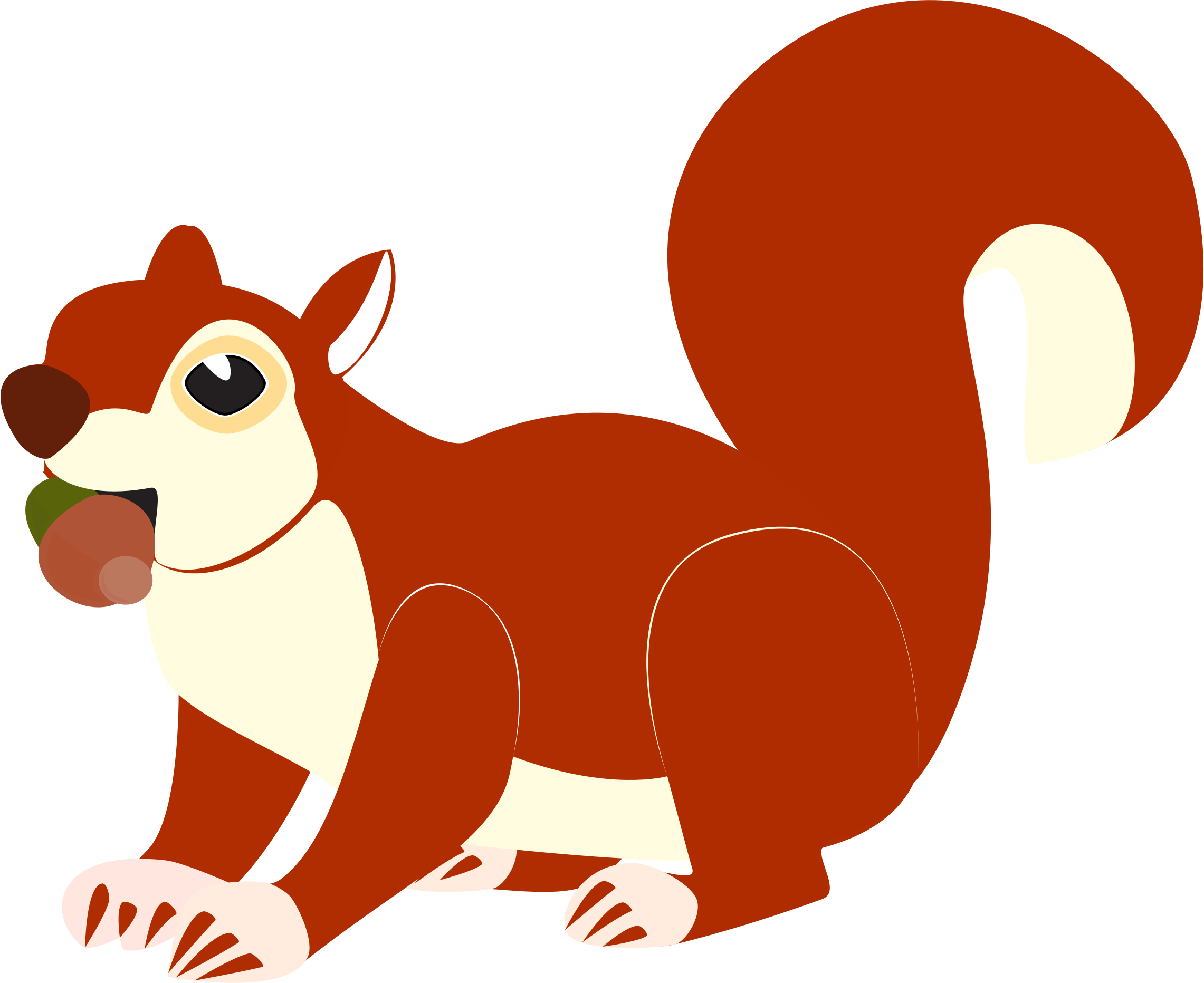 Clipart tree squirrel. Red silhouette at getdrawings