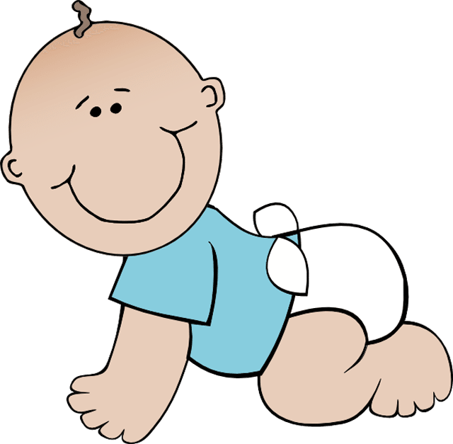 Infant clipart year old.  free baby clip