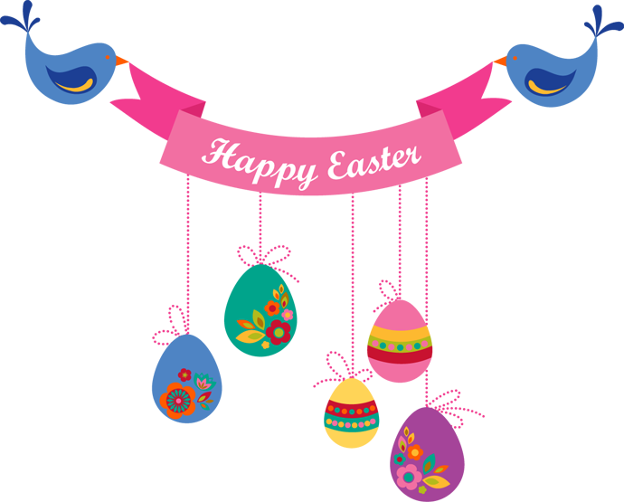 Clipart birthday easter. Happy banner