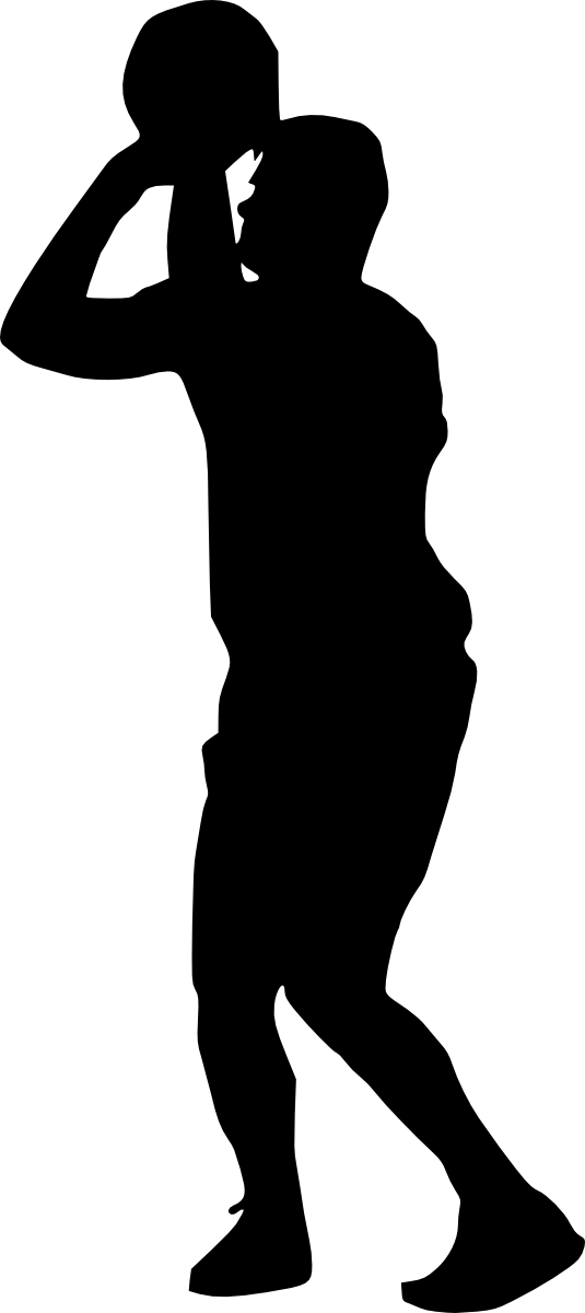 Basketball player at getdrawings. Scooter clipart silhouette