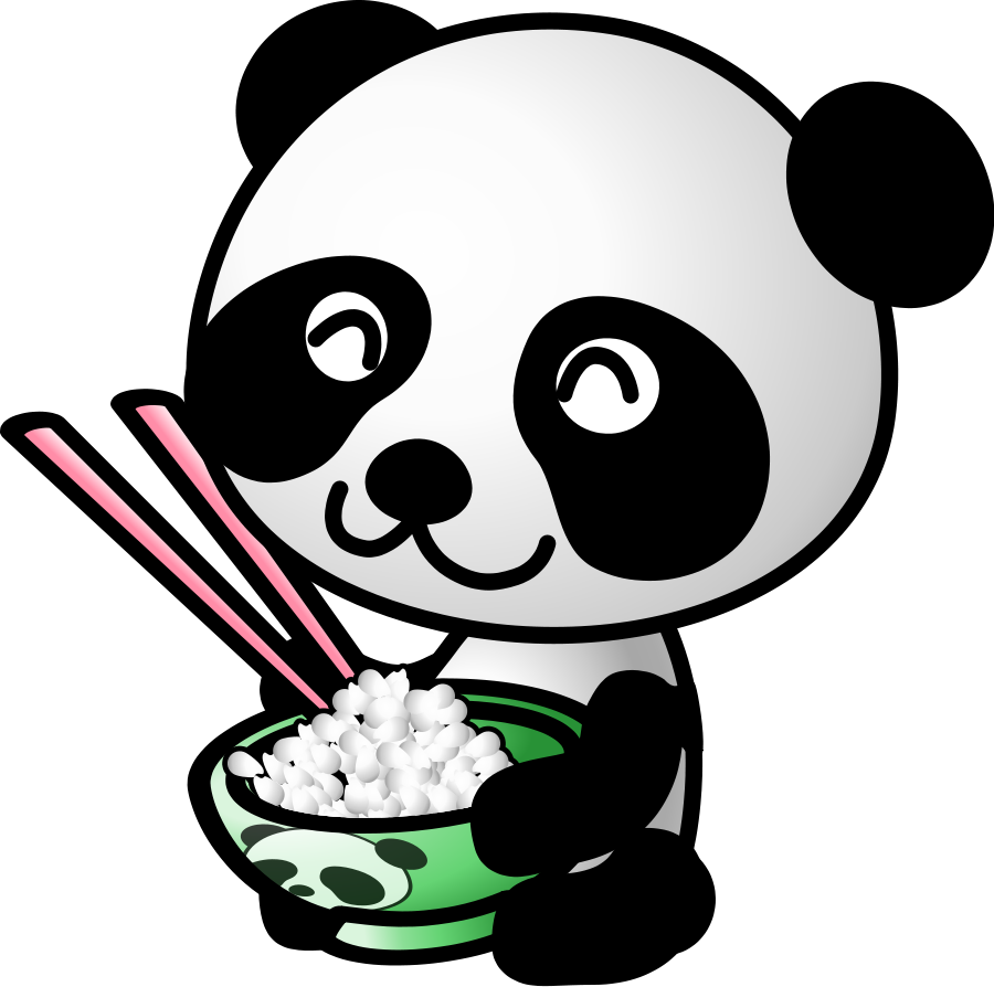 Palace clipart oriental. Panda face black and