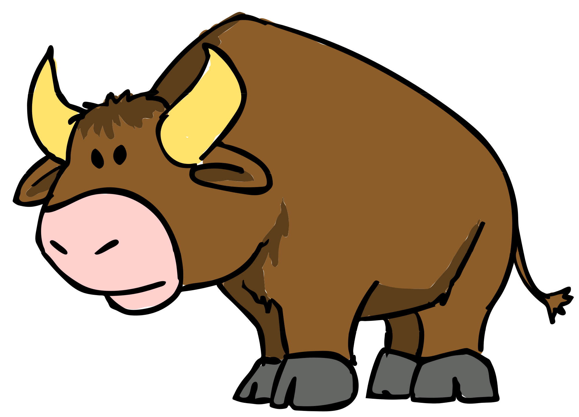 Yak clipart bison. Buffalo cartoon drawing at