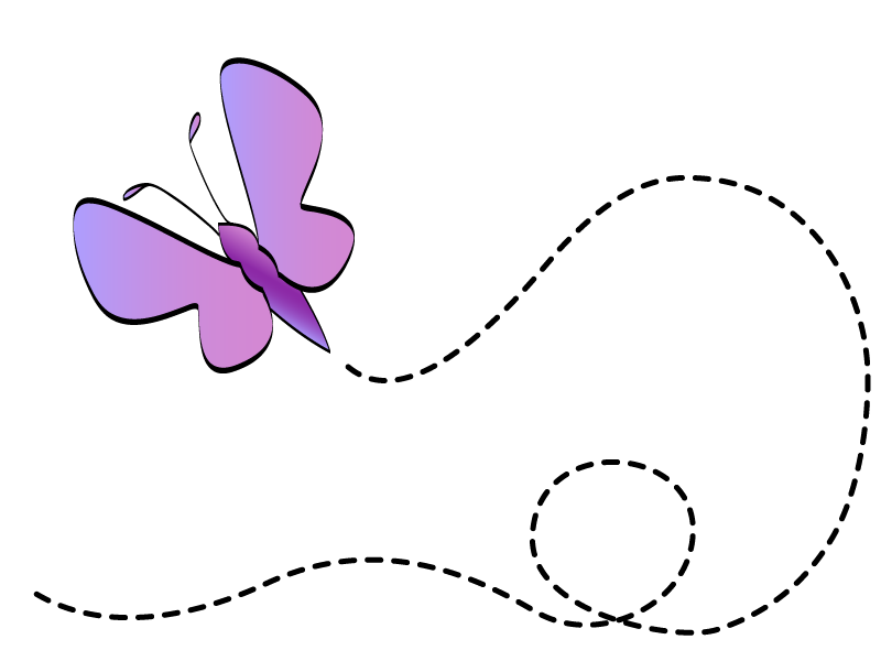 collection of cute. Clipart butterfly trail
