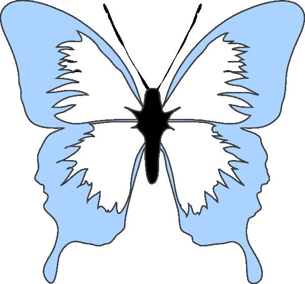 clipart butterfly light blue