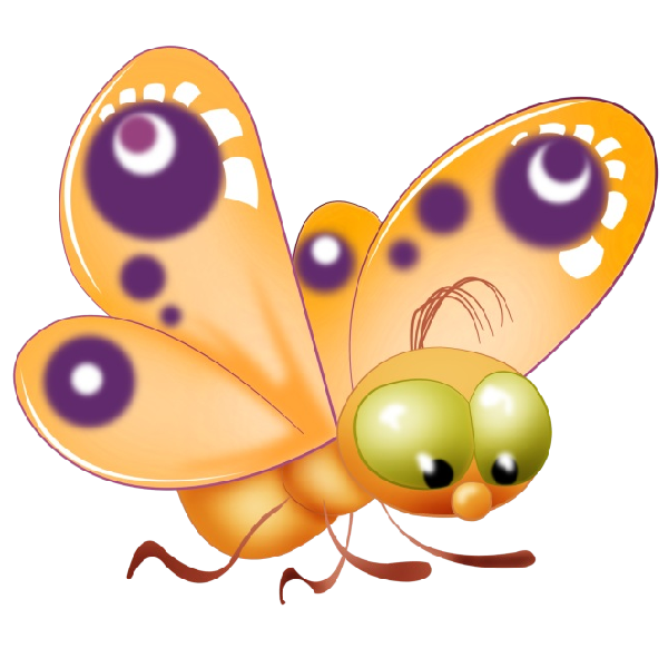 Baby cartoon clip art. Insect clipart butterfly