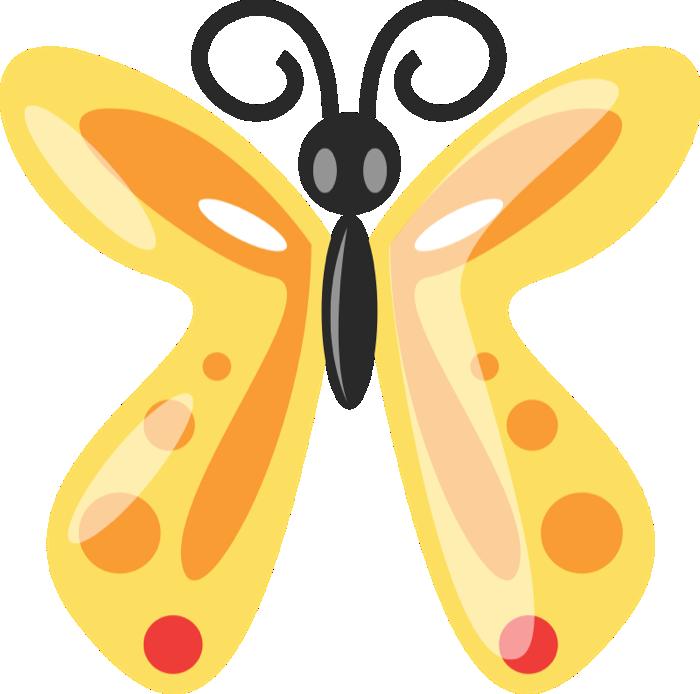 Free graphics of butterflies. Moth clipart cartoon