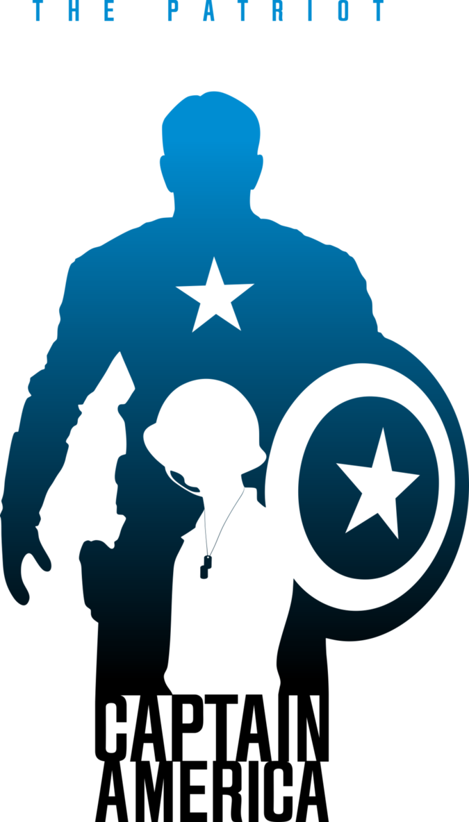 Head clipart captain america. Silhouette at getdrawings com