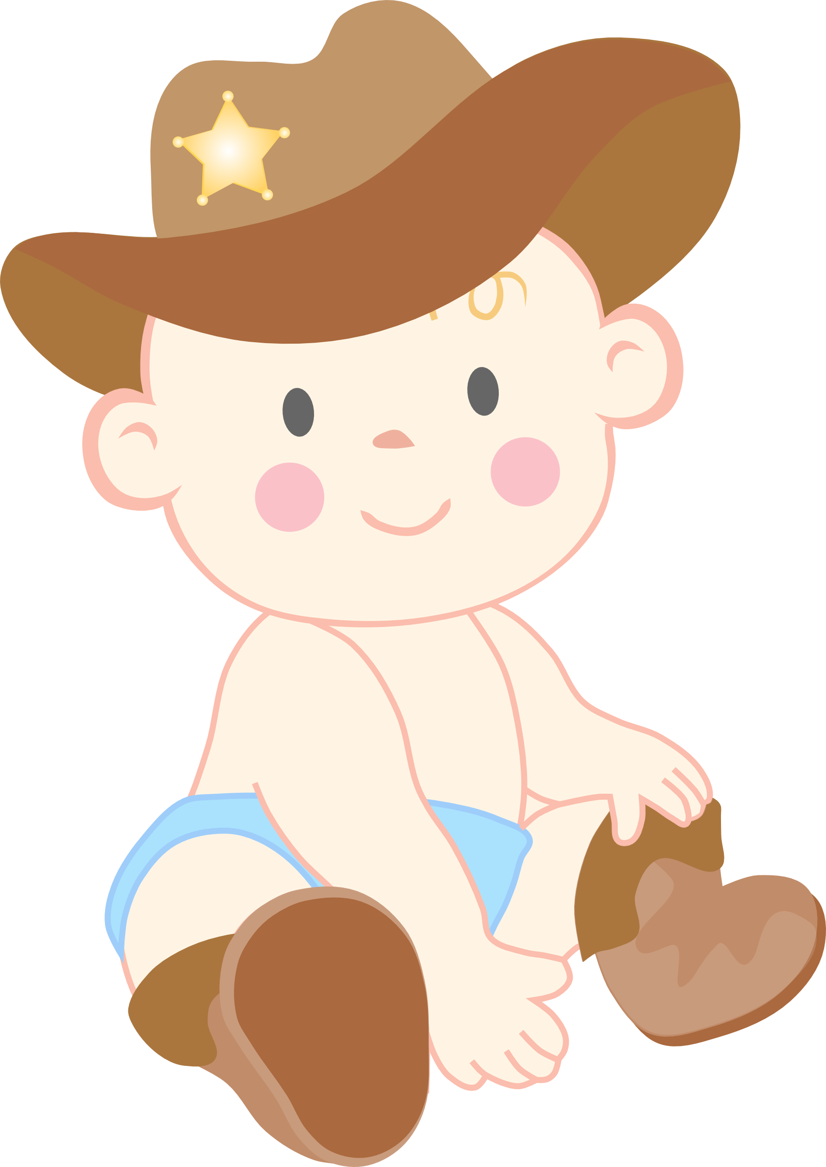 Showering clipart fun. Baby cowboy look at