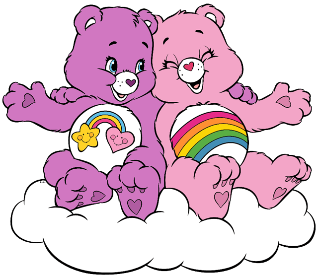 Clipart friends bff. Care bears and cousins
