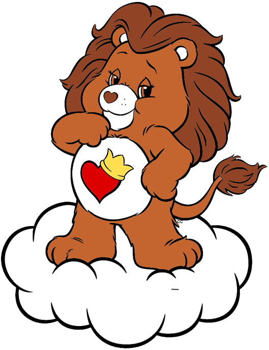 Care bears and cousins. Clipart bear heart