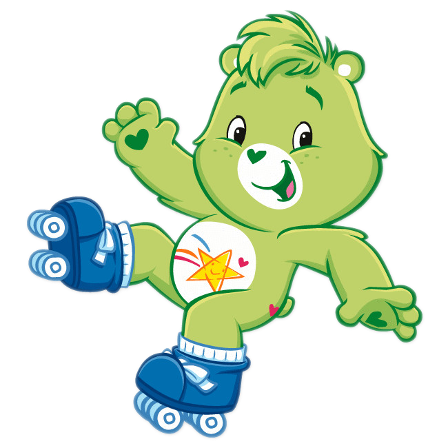 green clipart care bear