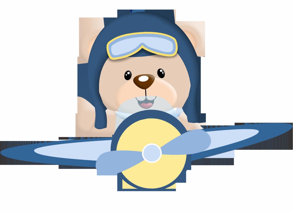Ursinho aviador azul marinho. Pilot clipart pilot navy