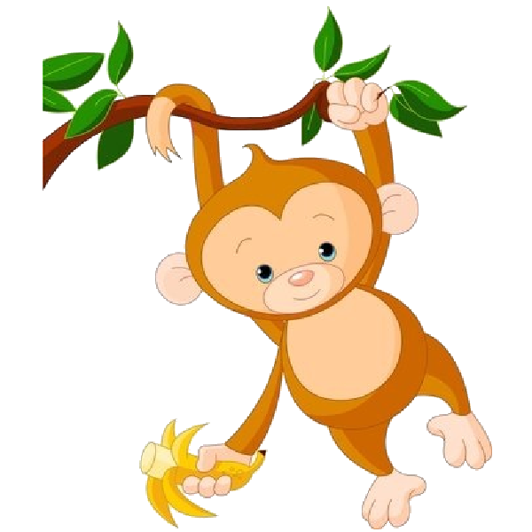 Transparent background clip art. Tree clipart monkey