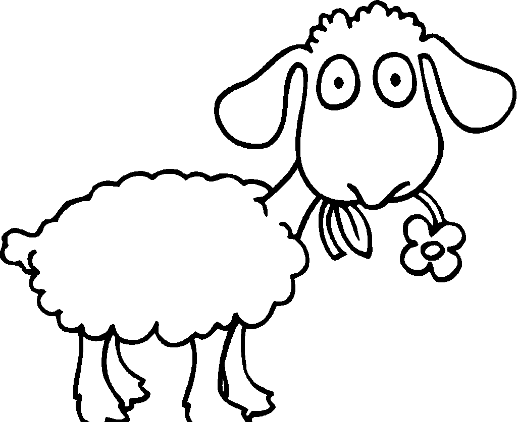 Sheep coloring page pencil. Einstein clipart outline
