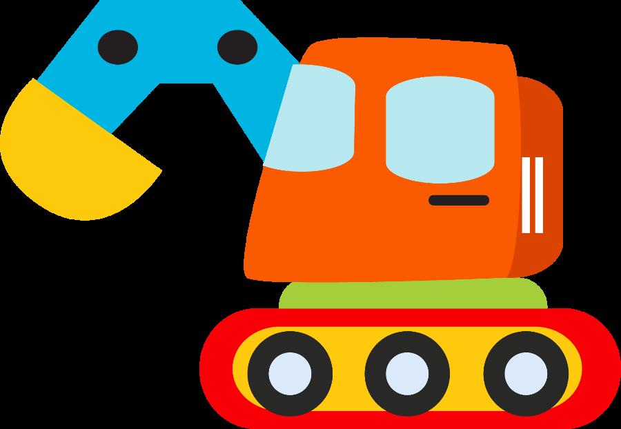 Meios de transporte minus. Clipart baby construction