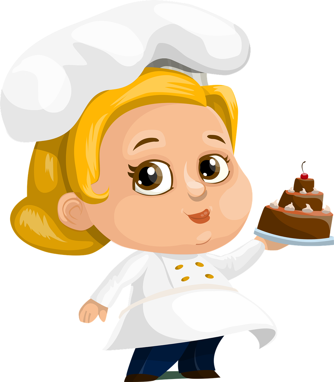 Dish clipart woman. Food chef cake lady