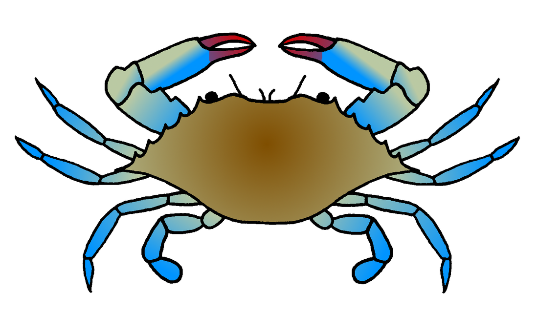Crab clipart colored. Blue drawing at getdrawings