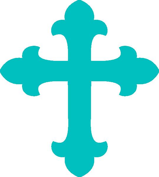 Light teal clip art. Clipart cross blue