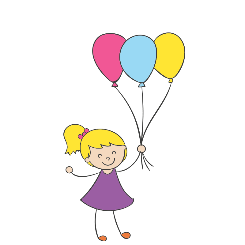 Cartoon clip art little. Clipart balloon child