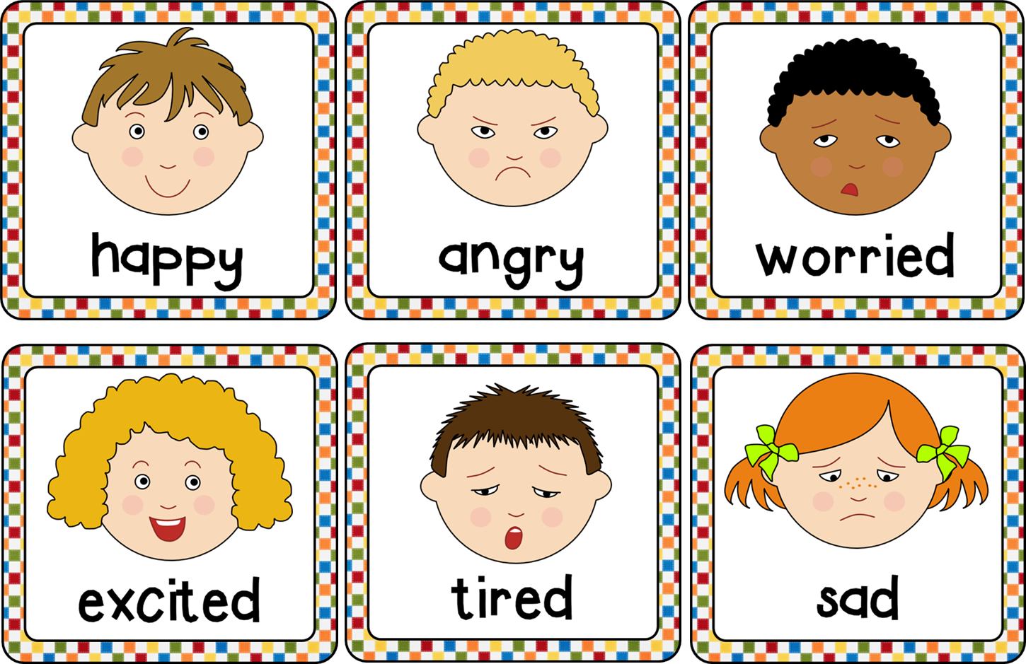 Mad clipart preschool. Emotions cards helps to
