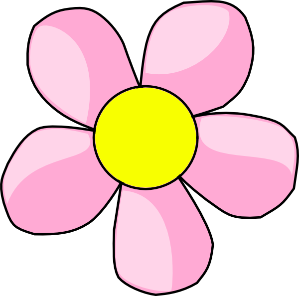 Pink clip art at. E clipart flower