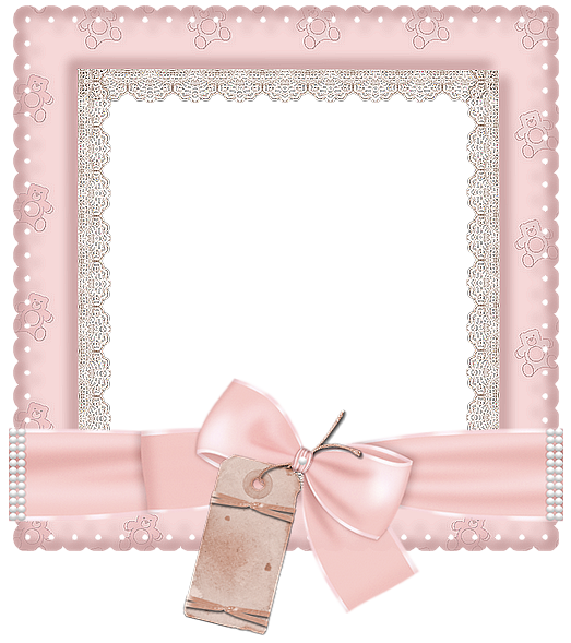 Pink transparent photo im. Cute frame png