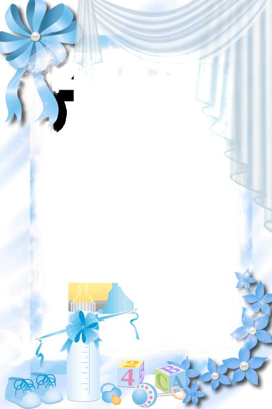 Transparent blue png frame. Frames clipart baby girl