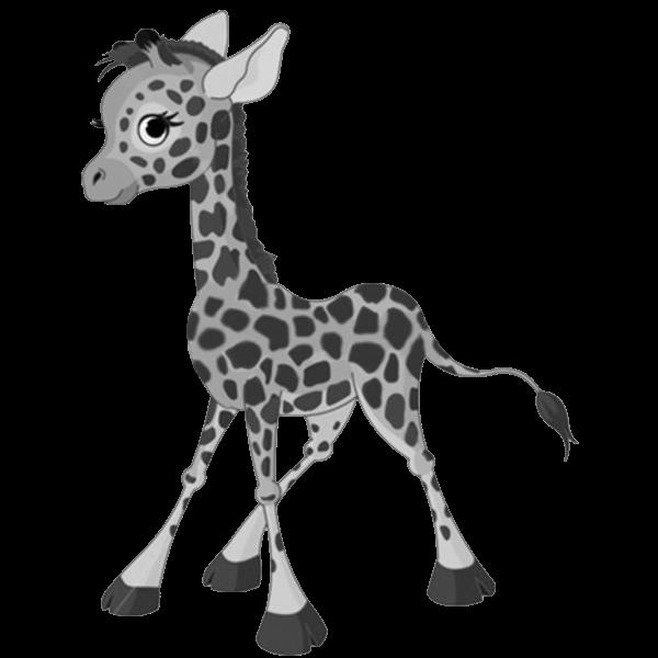 Baby clipartblack com animal. Clipart giraffe black and white