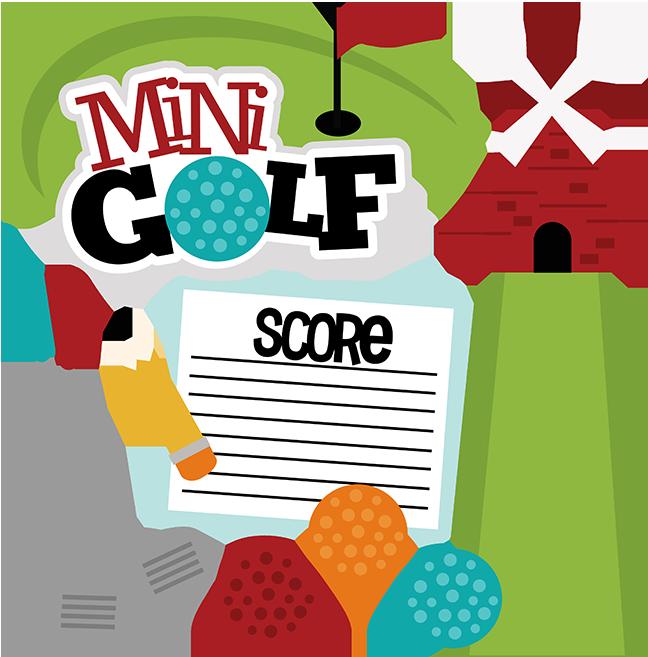 Mini svg scrapbook file. Winter clipart golf