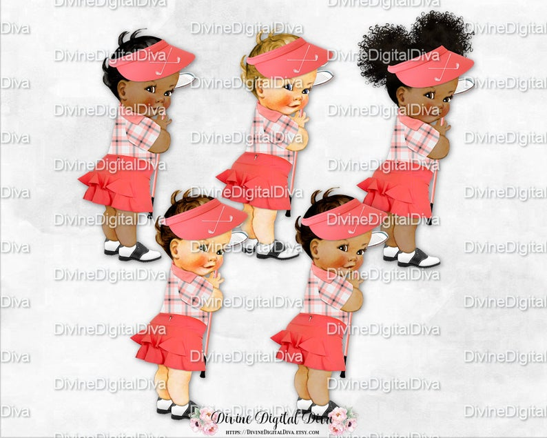 Golfer clipart baby. Golf coral gray white