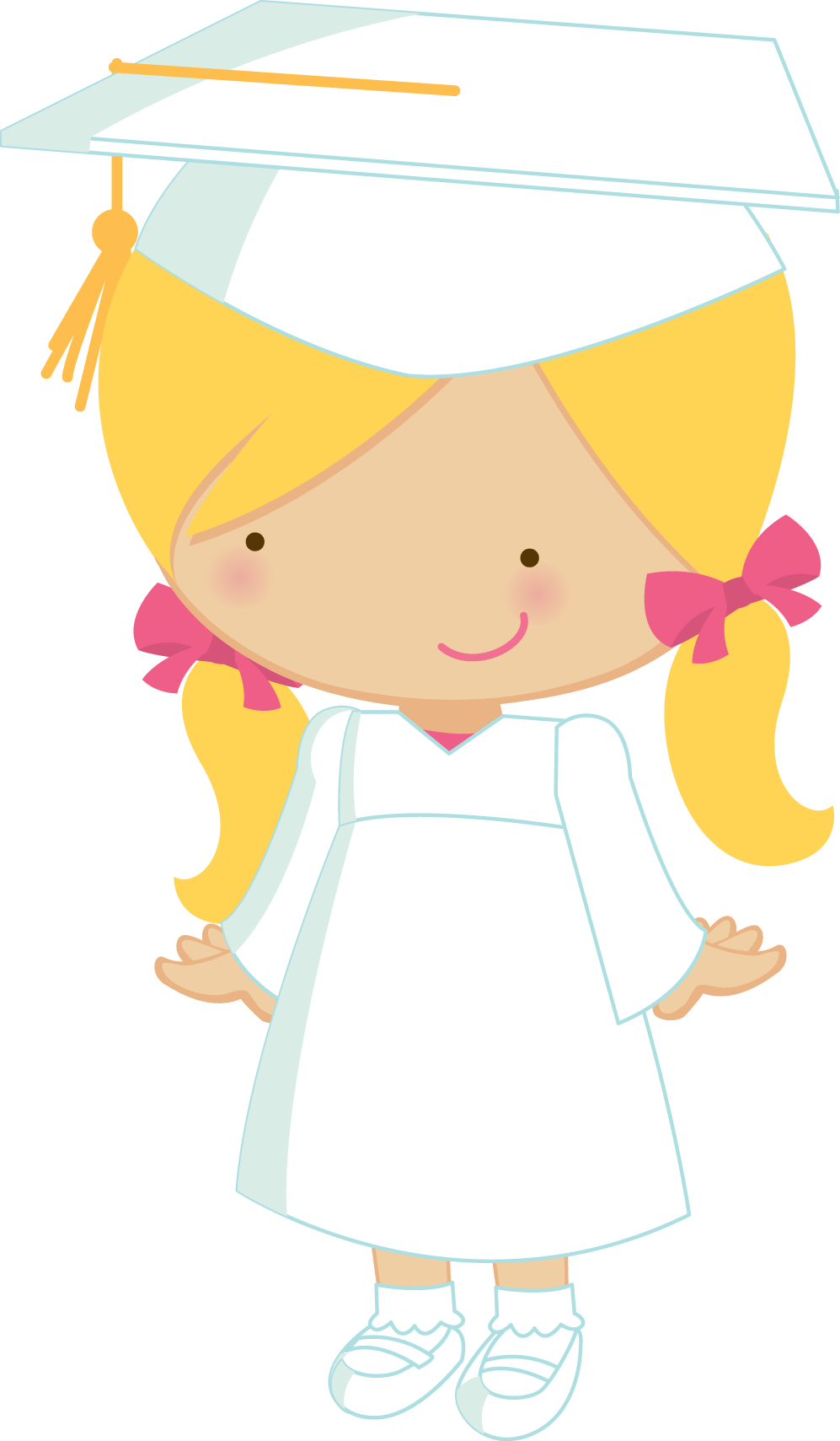 Little graduates zwd girl. Preschool clipart graduation