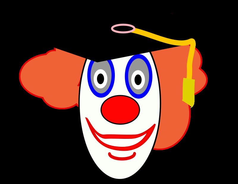 Clipart baby graduation. Free education graphics clown