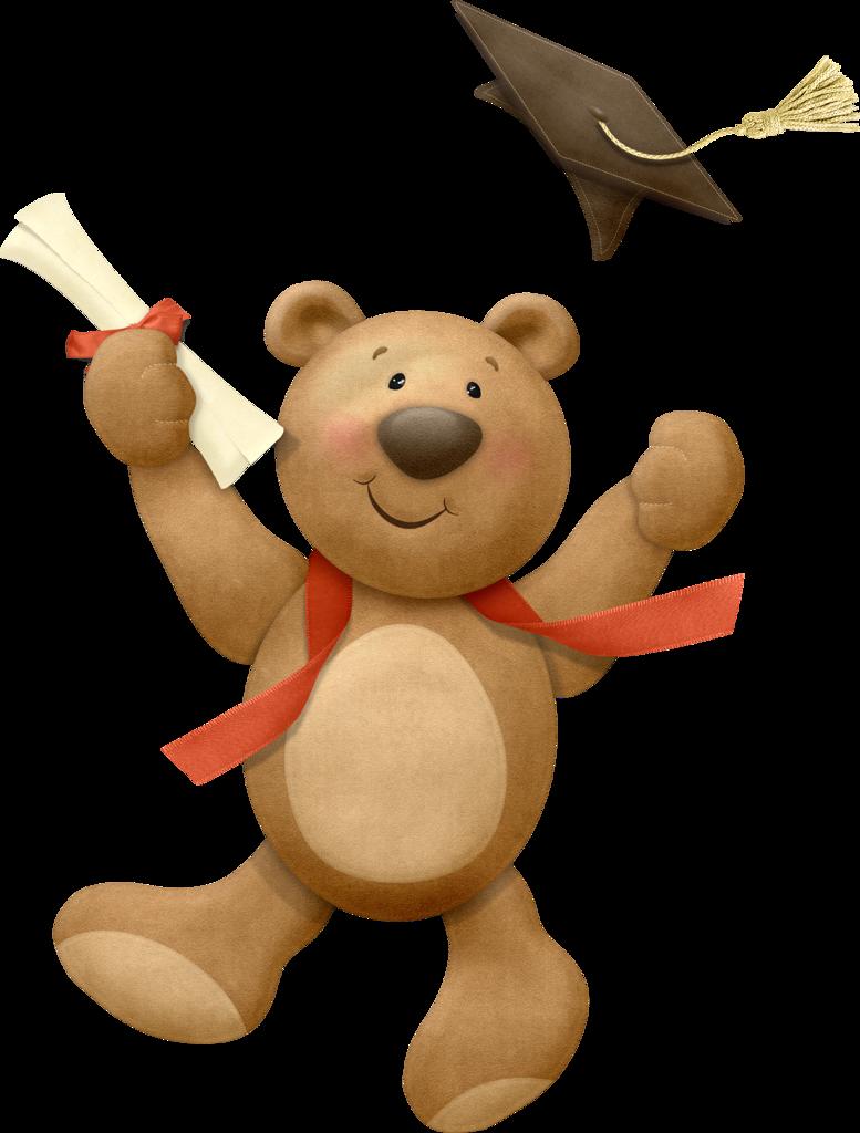 Teddy bear clip art. Clipart baby graduation