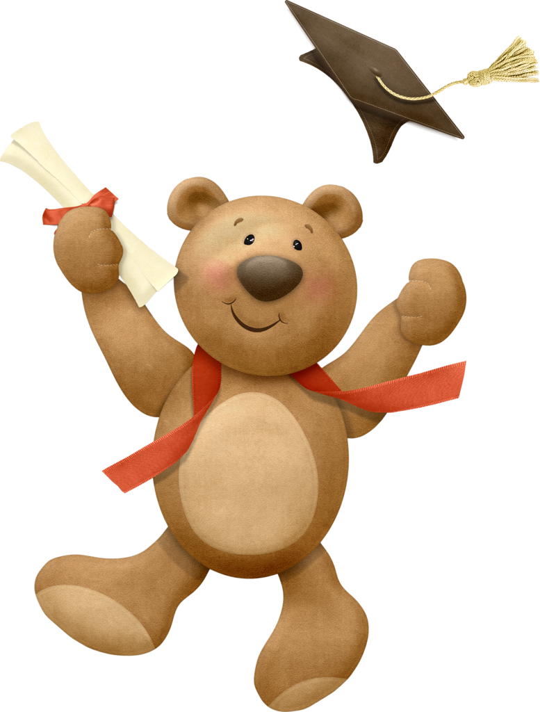Graduation clip art t. Hamster clipart brown teddy bear