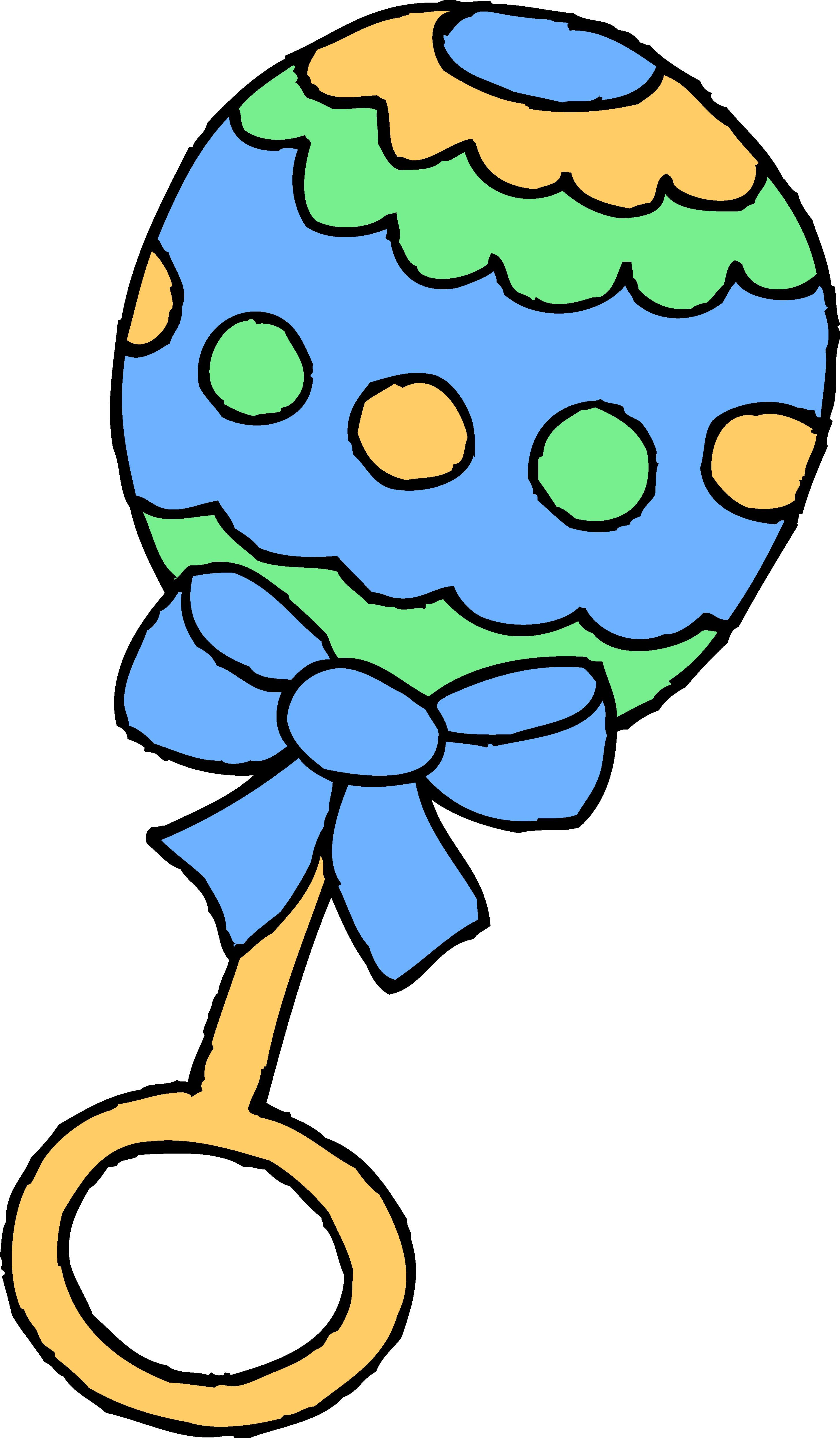 Clipart panda boy. Blue baby rattle free